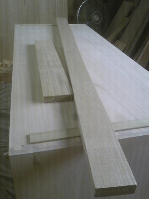桐たんす作製 定木