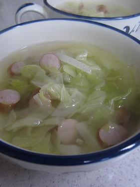 20141114 キャベツウインナースープ