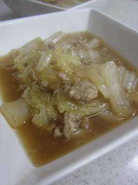 20141117白菜ひき肉煮