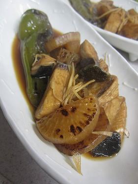 20141128焼き大根とぶりの煮物