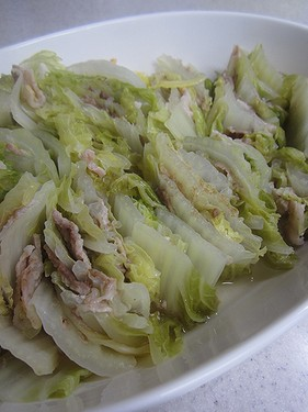 20141207 白菜と豚バラ蒸し (1)