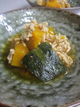 20141209 かぼちゃと鶏ひき肉煮