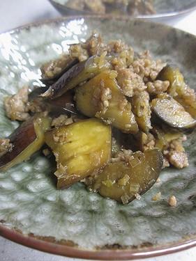 20141216 ナスとひき肉炒め