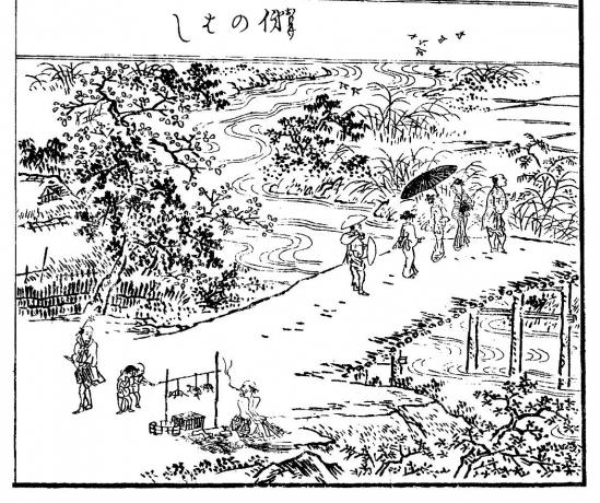 1『江戸名所図会』の挿絵「俤のはし」