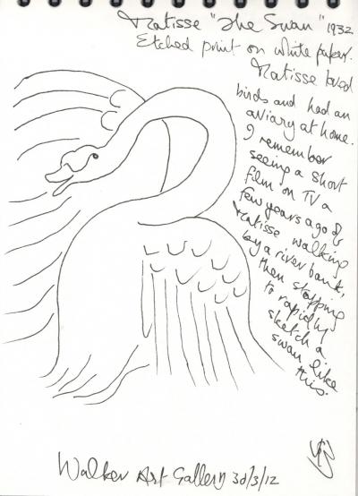 (4) SWAN MATISSE DRWG