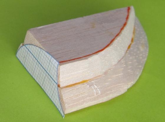 二層にして型紙貼って
