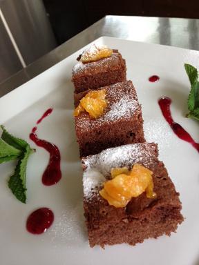 バレンシアオレンジのチョコレートケーキ