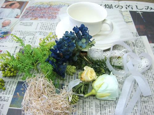 グリーンヒーリングカップ1_花材