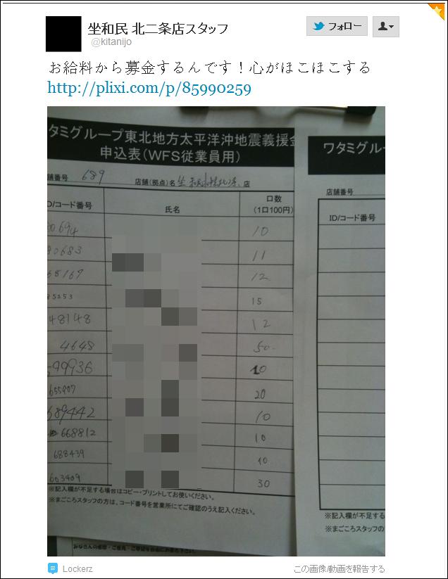 社員やアルバイトが募金→SAJ→ワタミの宅食(おせち)