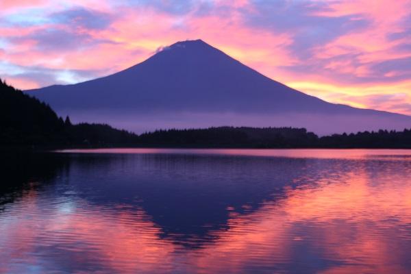朝焼け富士田貫湖600