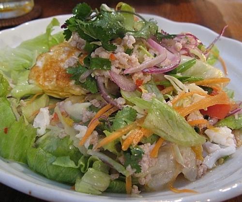 揚げ卵のサラダ