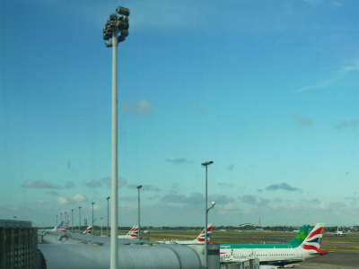 空港ラウンジからの景色