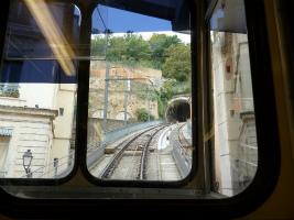 登山電車からの車窓