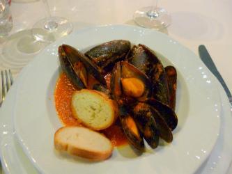 ムール貝の  マリナラソース