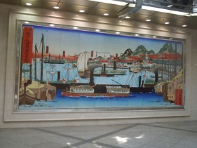 神戸駅のようす