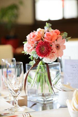 和婚の花~レストランウエディング テーブル花~ ②_R
