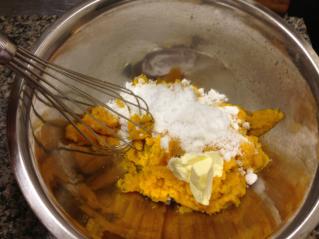 かぼちゃにバターや砂糖