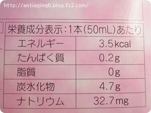 ヒアルロン酸&プラセンタの成分表