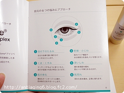 トータルリペア アイセラムは、6つの『目元の老化』に対応してます。
