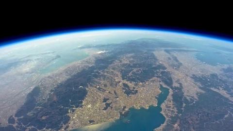 琵琶湖上空で撮影2