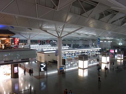 中部国際空港出発カウンター