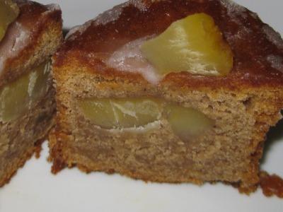 栗のケーキ断面