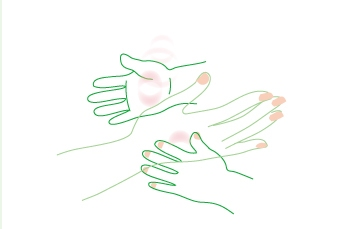 手と手 親子