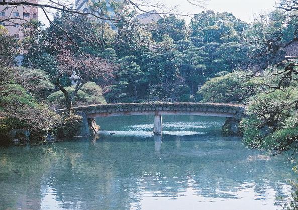 相楽園 橋♪ m
