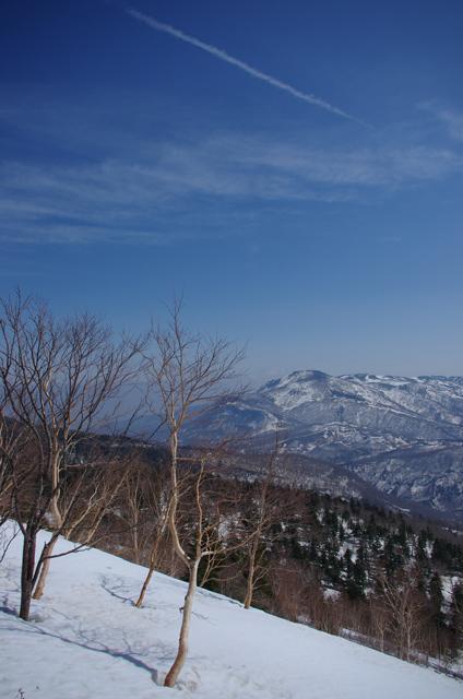 スカイラインから安達太良山