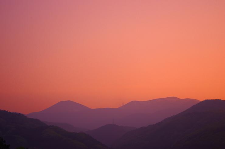 30℃の夕空