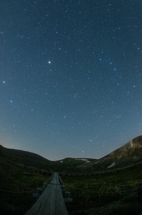 浄土平湿原の星空