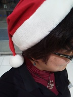 141125所沢西武サンタ帽