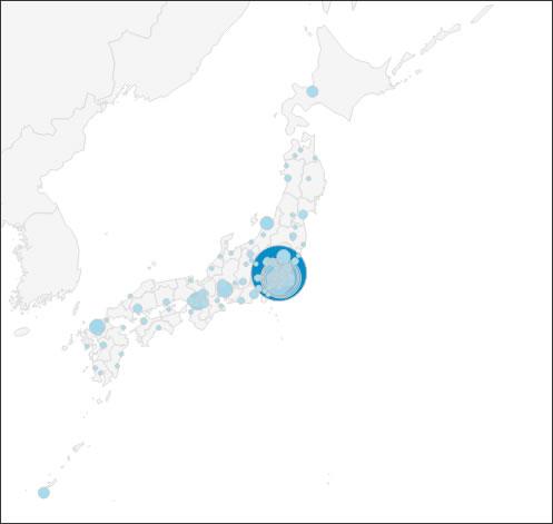 ParkBar:アクセス市区町村表示マップ