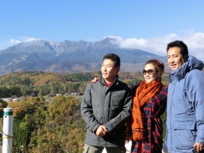 開田高原で御嶽山を望む