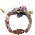 b812 vintage ribbon braided bracelet multi rainbow