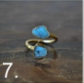 Turquoise Wrap Ring Gold 7 (2)
