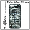 Snakeskin Black Studded Cross iPhone 5 5s (4)