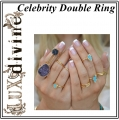 INFINITY Double Turquoise Ring Gold (2)