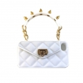 SPIKED WHITE PURSECASE - LIMITED