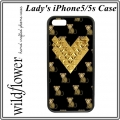 Monkemoji Gold Studded Heart iPhone 5 5s Case (1)