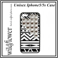 Tribal Silver Studded Pyramid iPhone 5 5s Case (3)