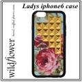 Blue Floral Gold Pyramid iPhone 6 Case (1)