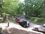 登山口周辺の道路