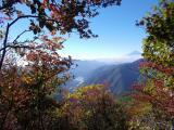南に望む富士山と広瀬湖