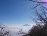 南東に富士山を望む