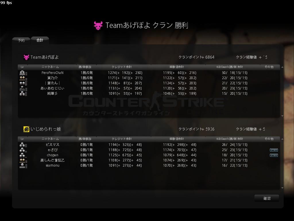 Teamあげぽよ2 infe