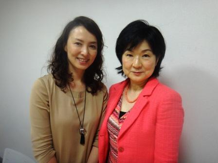 webラジオ収録後花田景子さんと