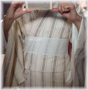 タテ縞の着物
