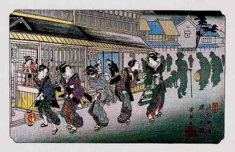 9-『岐阻街道 深谷之駅』、渓斎英泉