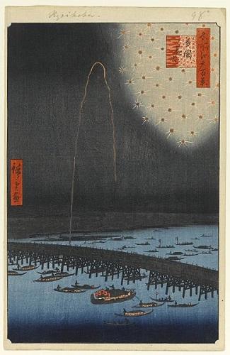 19世紀頃の両国花火